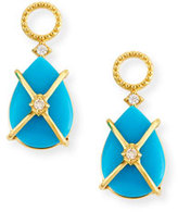 Jude Frances Wrapped Turquoise Earring Charms with Diamonds