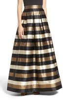 Eliza J Metallic Stripe Ball Skirt