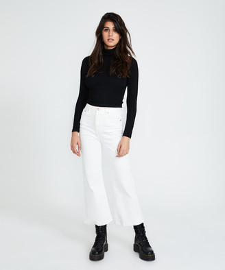 Insight Analise Stretch Slim Jeans Flare White