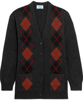 Prada Argyle Wool Cardigan - Charcoal