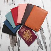 NV London Calcutta Personalised Leather Passport Holder