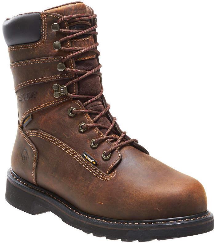 7fe13357532 Mens Durashocks Waterproof Slip Resistant Steel Toe Lace-up Work Boots