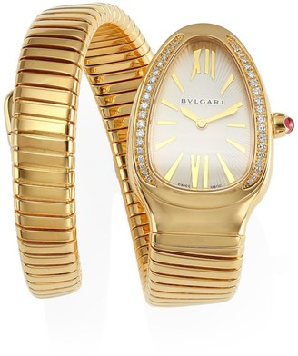 Bvlgari Serpenti Tubogas Yellow Gold & Diamond Single Twist Watch