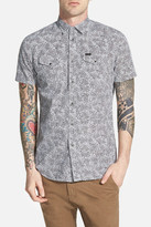 Diesel &Sulfo& Extra Trim Fit Short Sleeve Paisley Print Woven Shirt
