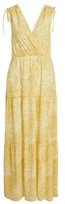 Dorothy Perkins Womens **Vila Yellow Print Maxi Dress, Yellow