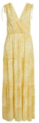 Dorothy Perkins Womens Vila Yellow Print Maxi Dress, Yellow