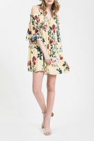 Blu Pepper Cold Shoulder Floral Dress