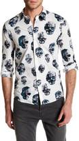 Junk De Luxe David Skull Long Sleeve Slim Fit Shirt