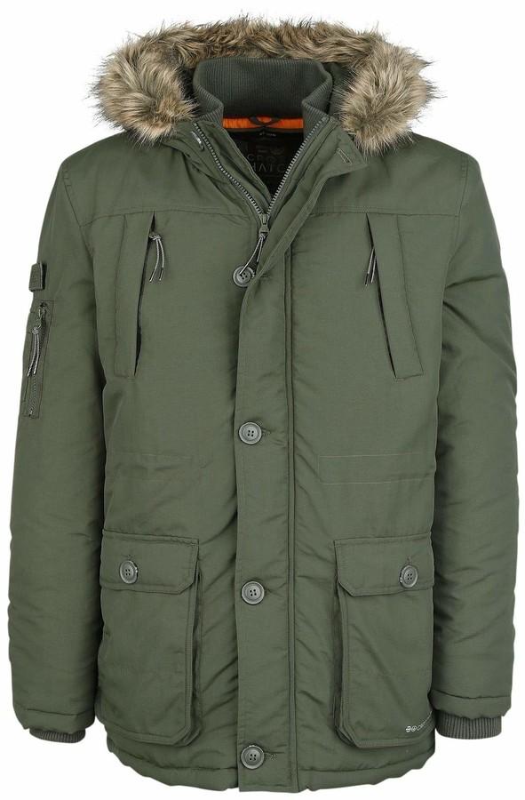 New Mens CROSSHATCH Longline Parka Jacket Puffer Padded Hooded Winter Coat Zip