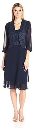 Le Bos Women's V Neck Jacket Dress