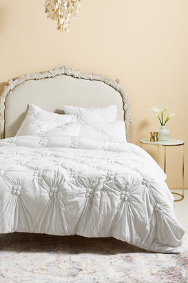 Anthropologie Jacqueline Jersey Quilt By in White Size TW TOP/BED