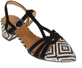 Chie Mihara Rosali Bicolor Ankle-Strap Sandals