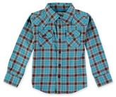 Rockin' Baby Iceland Brushed Checked Long Sleeve Shirt in Blue