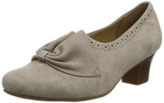 Hotter Donna, Women's Closed-Toe Pumps Closed Toe Heels, Brown (Truffle Brogue 335)