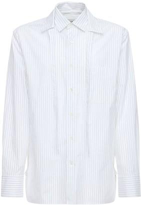 Lanvin Double Collar Striped Cotton Shirt