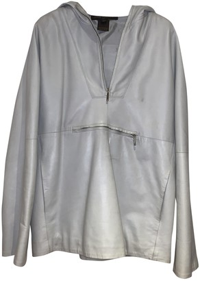 Louis Vuitton Grey Leather Leather jackets