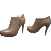 Max Mara Beige Leather Ankle boots