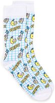 Topman Fresh Lemon Check Socks