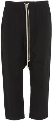 Rick Owens Drop-Crotch Cropped Pants