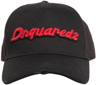 DSQUARED2 Logo Cotton Canvas Baseball Hat