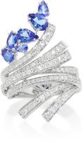 Hueb Mirage 18K White Gold Diamond and Tanzanite Ring