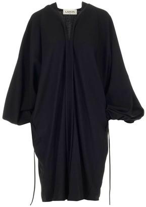Lanvin V Neck Puff Sleeve Dress