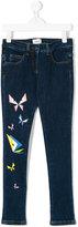 Fendi butterflies print jeans