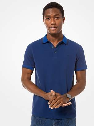 Michael Kors Greenwich Stretch-Cotton Polo Shirt