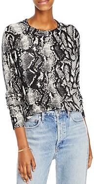 Aqua Cashmere Snake Print Cashmere Sweater - 100% Exclusive
