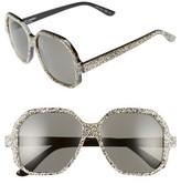 Saint Laurent Women's 56Mm Sunglasses - Black/ Grey