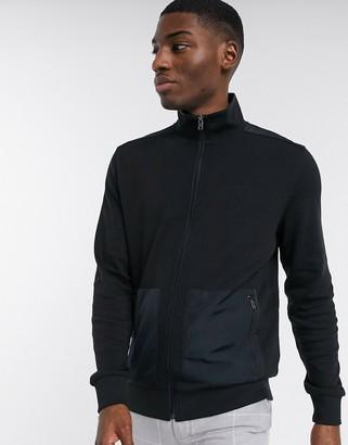 Calvin Klein nylon pocket zip sweat in black