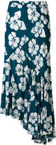 Simonetta Ravizza Tea floral print asymmetric skirt