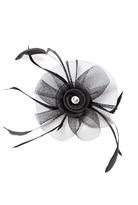 Quiz Black Jewel Feather Fascinator