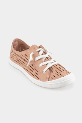 Not Rated Not Rate Marae Laser Cut Sneaker - Nude