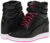 Puma Sky Wedge Animal Wn's (Black/Fluo Pink) - Footwear