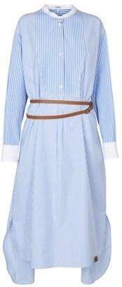 Loewe Stripe shirtdress leather belt