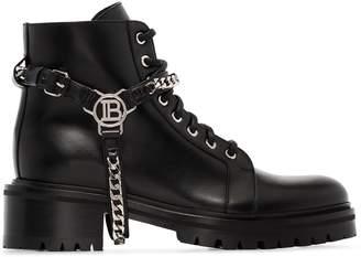 Balmain ranger chain ankle boots