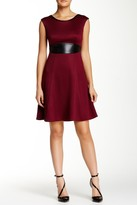 London Times T1631M Quilted Jersey A-Line Dress