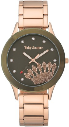 Juicy Couture Rosetone Stainless Watch with Olive Dial