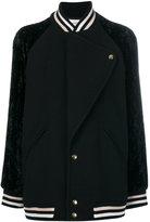 Lanvin oversized varsity jacket - women - Polyamide/Acetate/Cupro/Wool - 40