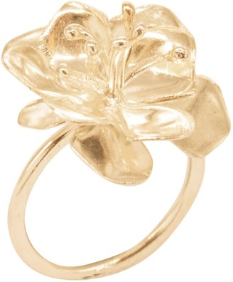 Lily Flo Jewellery Apple Blossom Ring In Solid Gold