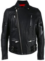 Diesel star biker jacket - men - Lamb Skin/Acetate - L