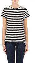 Proenza Schouler Women's Self-Tie Striped Slub Jersey T-Shirt
