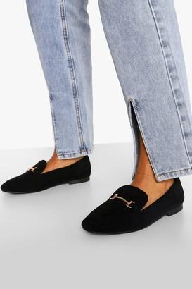 boohoo T Bar Basic Loafer