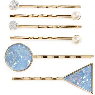 Tasha Set of 6 Sparkle Bobby Pins