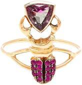 Daniela Villegas Kephri 18k Gold, Sapphire and Tourmaline Ring