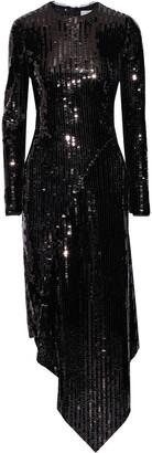 Preen by Thornton Bregazzi Clarissa Asymmetric Sequined Tulle Dress