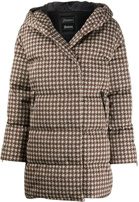 Herno Houndstooth Padded Coat