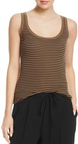Vince Striped Scoop-Neck Tank
