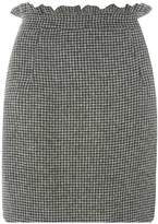 Dorothy Perkins Black Dogstooth Frill Mini Skirt